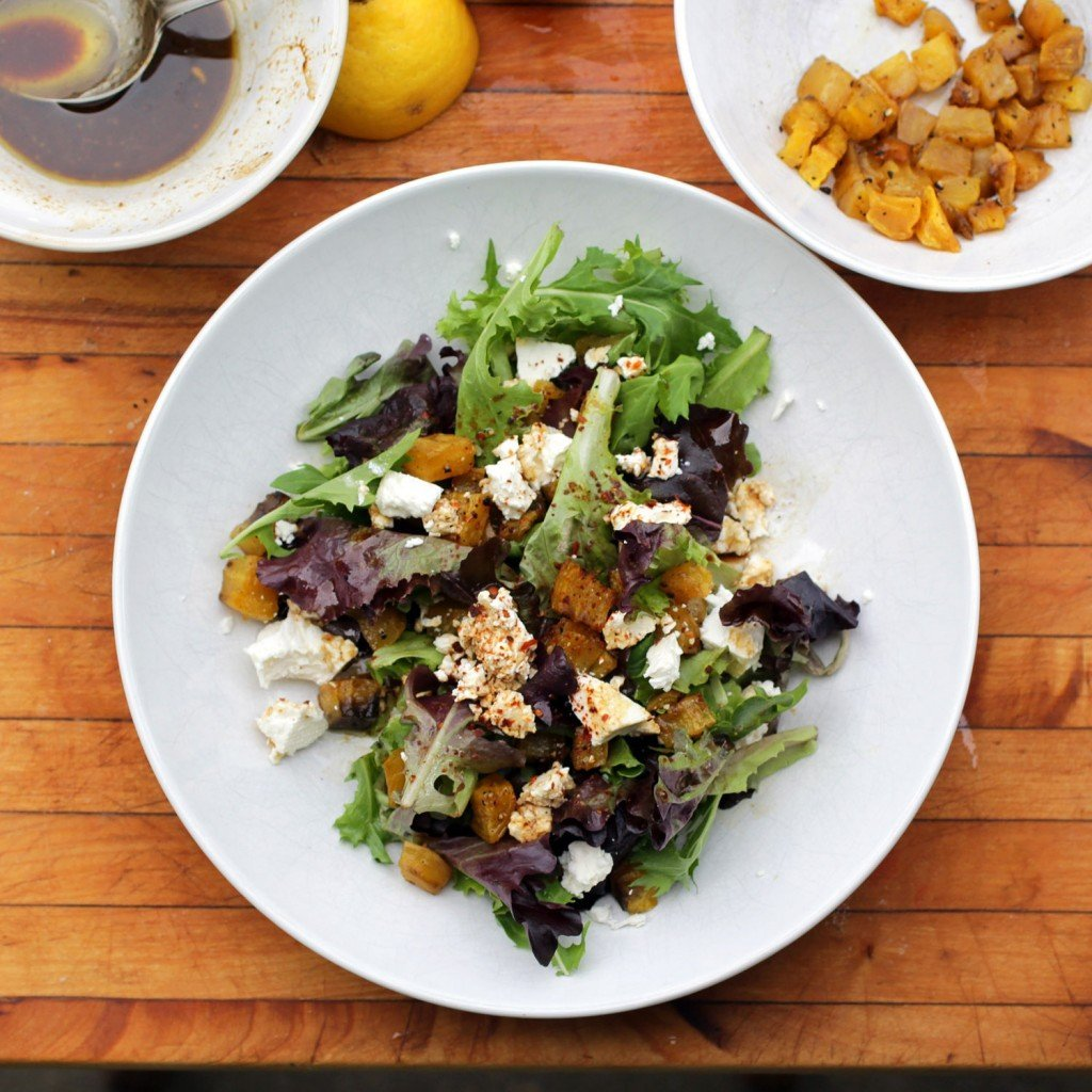 Roasted Golden Beet and Feta Salad - Recipe Fiction