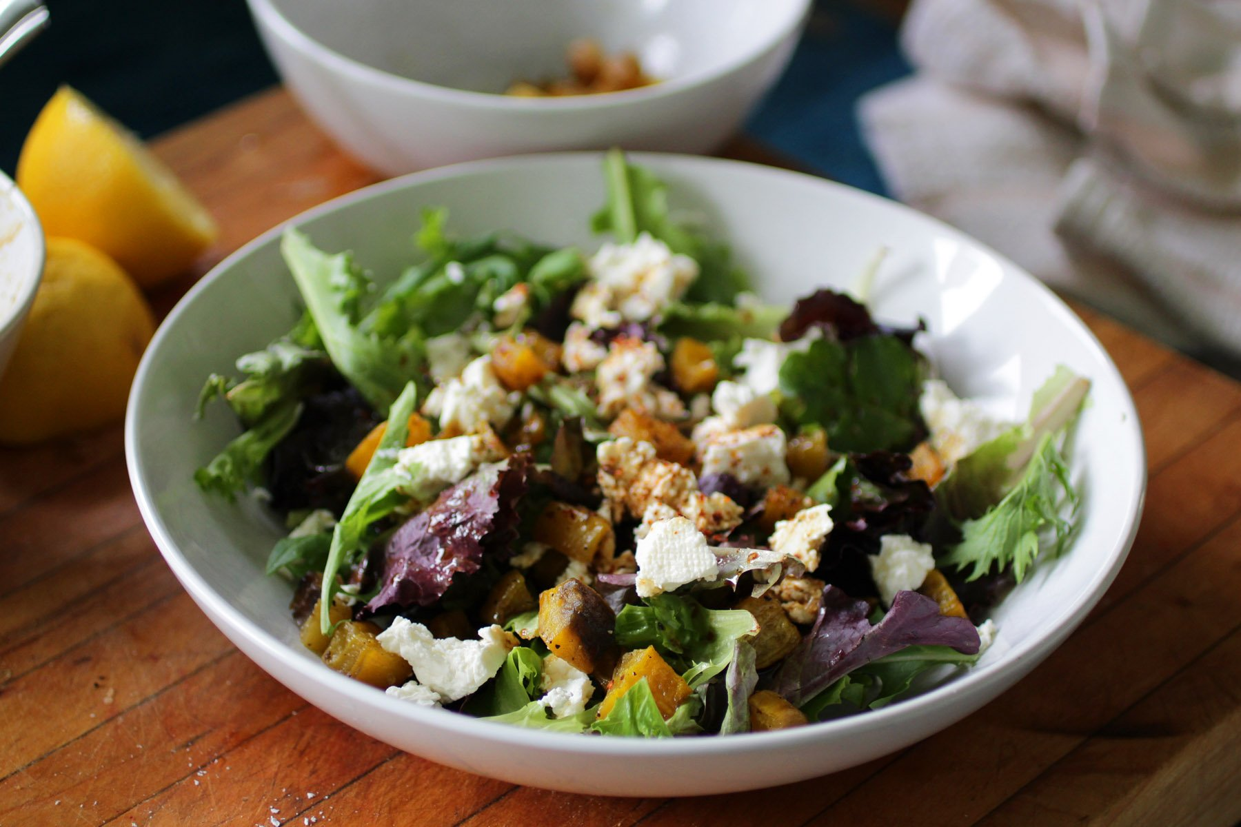 Roasted Golden Beet and Feta Salad - Recipe Fiction