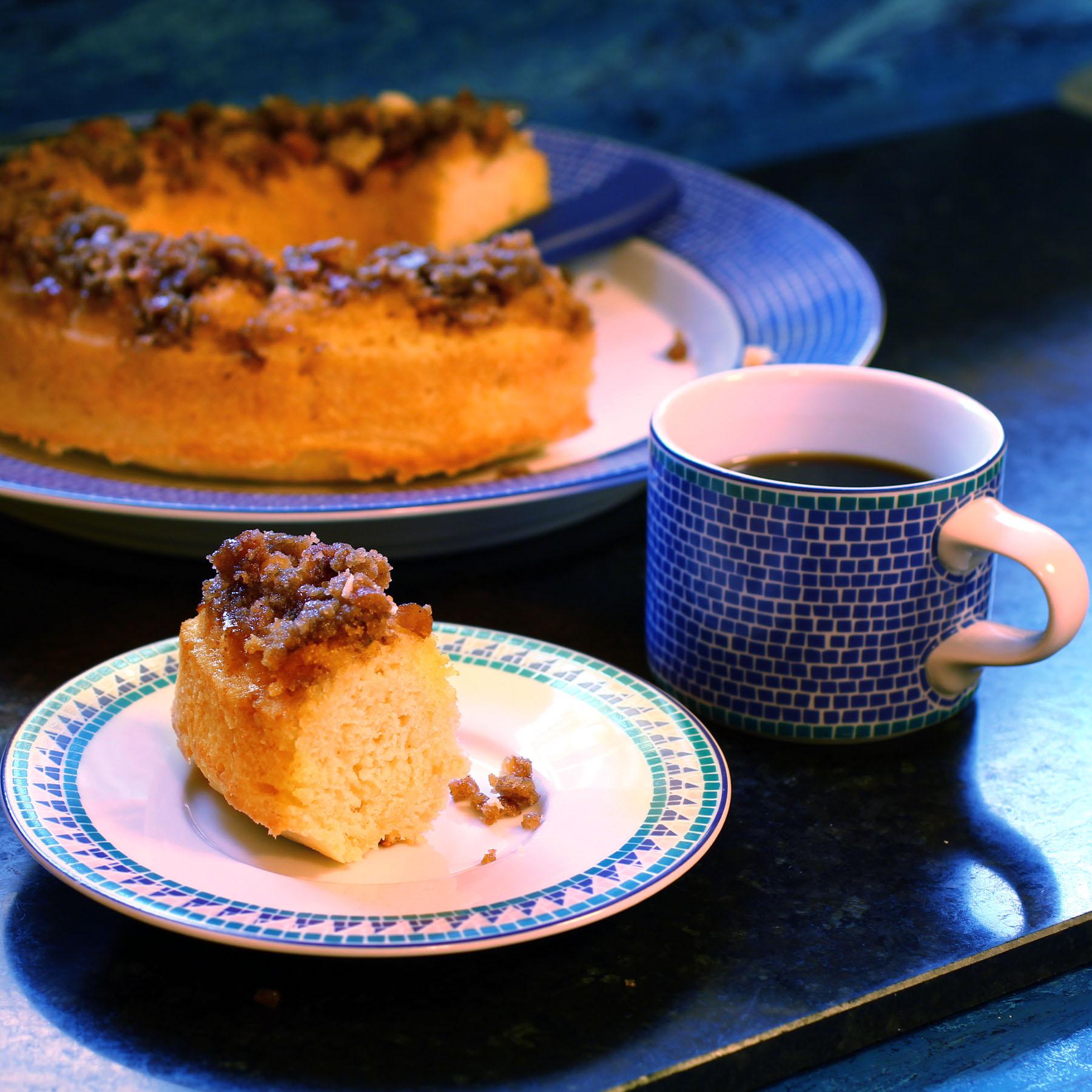 Quick Cardamom Pretzel Coffee Cake - Recipe Fiction