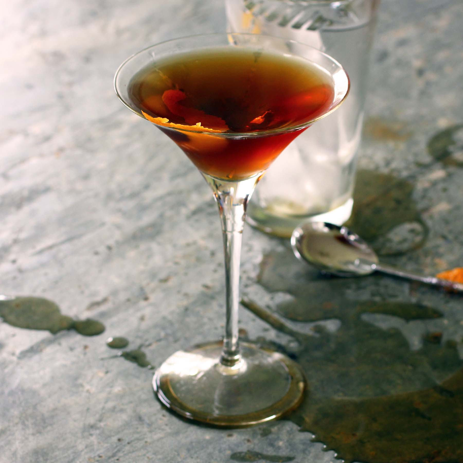 A Classic Manhattan Cocktail Recipe Fiction