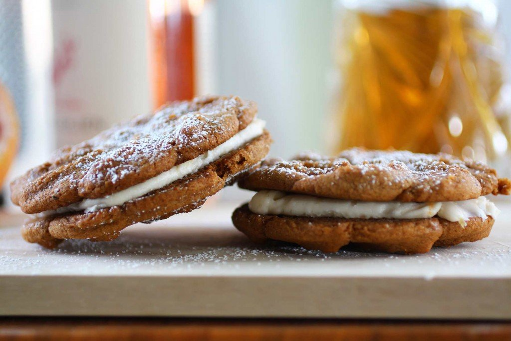 Ginger Grapefruit Cream Sandwich Cookies - Recipe Fiction