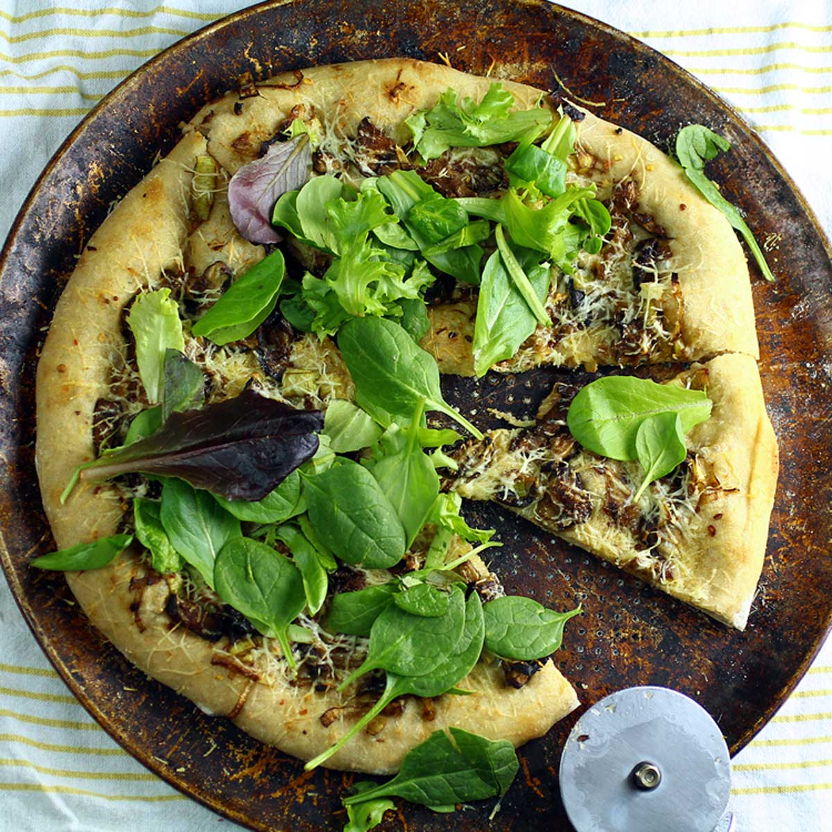 Mixed Mushroom & Leek Pizza Recipes — Dishmaps
