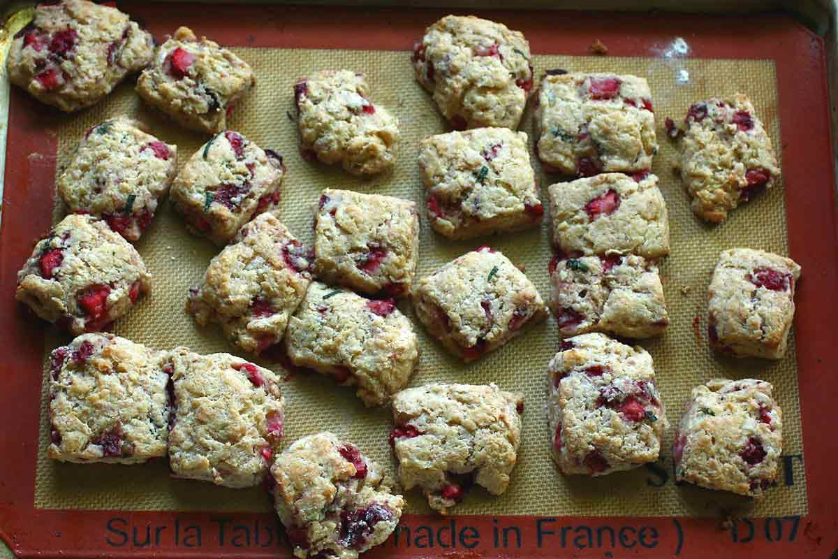 Fresh Strawberry Biscuits with Basil Butter - Recipe Fiction